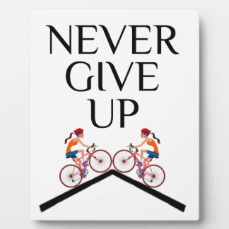 Never ever give up keep going plaque