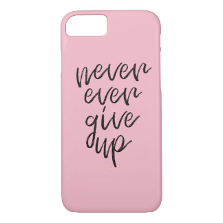 Never ever give up - Motivational Words Case-Mate iPhone Case