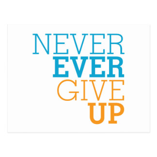 Never Ever Give Up Postcard
