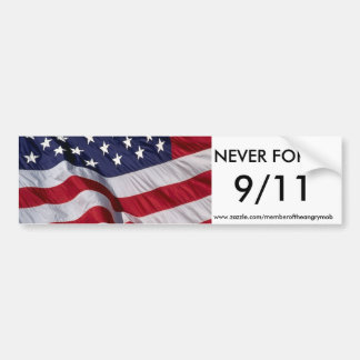 NEVER FORGET 9/11 bumper sticker
