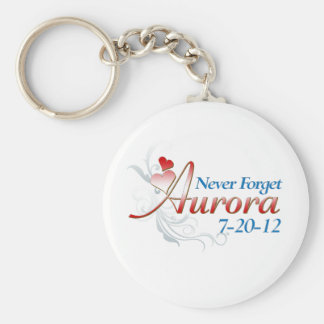 Never Forget Aurora copy.png Basic Round Button Keychain