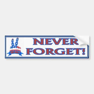Never Forget Car Bumper Sticker