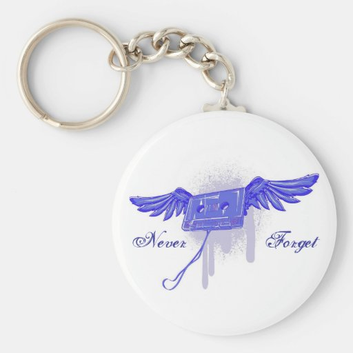 Never Forget (Cassette Tape) Key Chain
