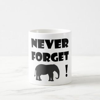 never forget classic mug