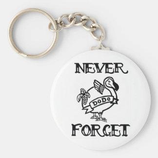 Never Forget- Dodo Keychain