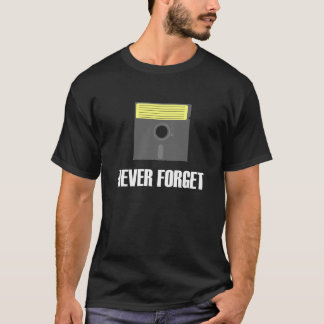 Never Forget Floppy Disk Dark T-Shirt