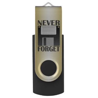 Never forget, floppy disk USB flash drive