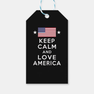 Never Forget! Keep Calm and Love America Gift Tags