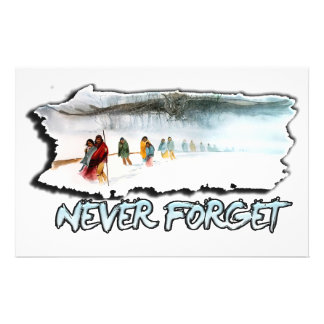 Never Forget the Trail of Tears Stationery