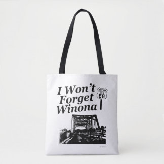 Never  Forget Winona Route 66 Tote Bag