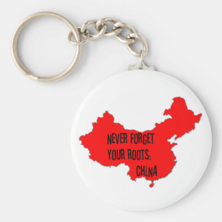 Never forget your roots: China Keychain