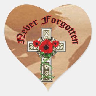 Never Forgotten Heart Sticker