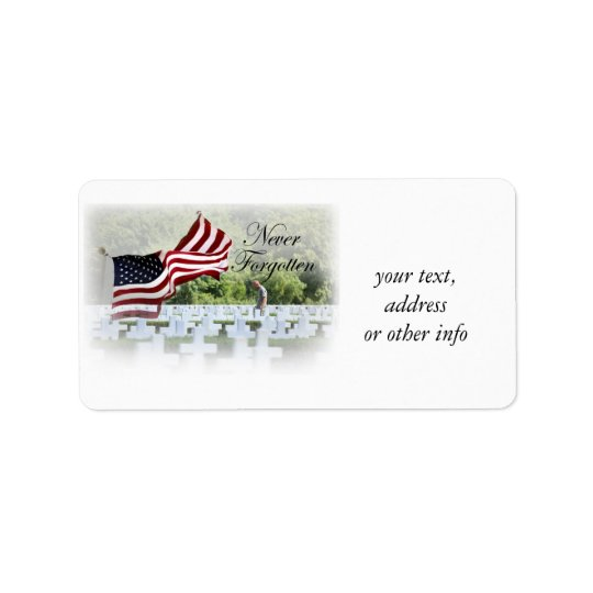 Never Forgotten - Memorial Day Label