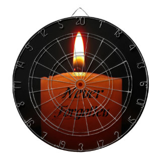 Never Forgotten Remembrance Candle Flame Dart Boards