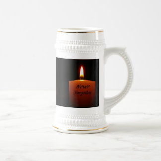 Never Forgotten Remembrance Candle Flame Coffee Mugs