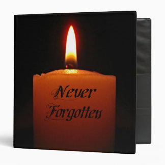 Never Forgotten Remembrance Candle Flame Vinyl Binders