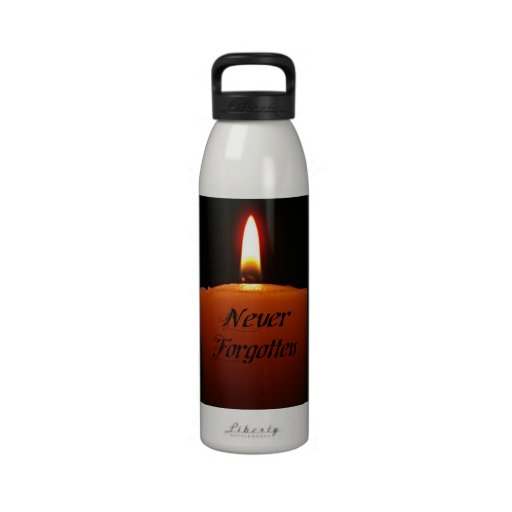 Never Forgotten Remembrance Candle Flame Reusable Water Bottle