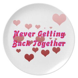 Never Getting Back Together Dinner Plates