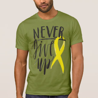 NEVER GIVE UP Alternative Apparel Crew Neck TShirt