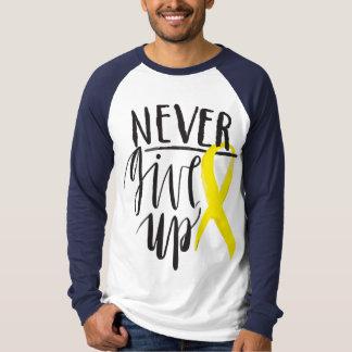 NEVER GIVE UP Basic   Long Sleeve Raglan TShirt