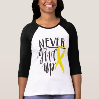NEVER GIVE UP Bella+Canvas 3/4 Sleeve  T-Shirt