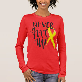 NEVER GIVE UP Bella+Canvas Long Sleeve Long Sleeve T-Shirt