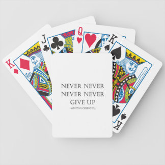 Never give up bicycle playing cards