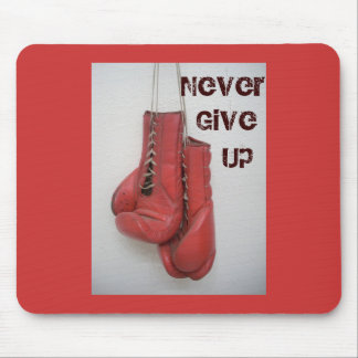 Never Give Up Boxing Gloves MOUSEPAD! Mouse Pad