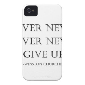 Never give up Case-Mate iPhone 4 cases