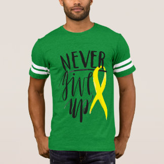 NEVER GIVE UP Football T-Shirt