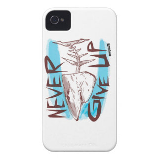never give up great white shark funny cartoon iPhone 4 case