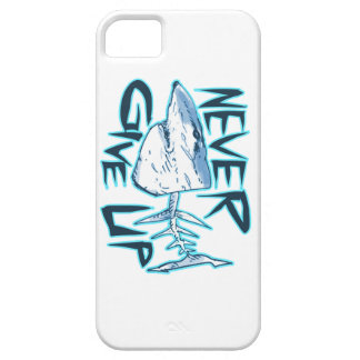 never give up great white shark iPhone 5 covers