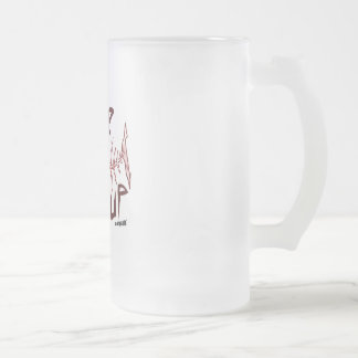 never give up great white shark v2 frosted glass beer mug