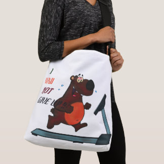 Never give up in Gym Crossbody Bag