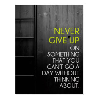 Never Give Up Inspirational Postcard