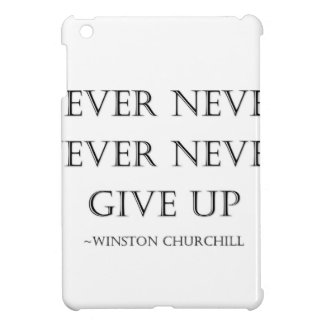 Never give up iPad mini cover