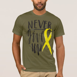 NEVER GIVE UP Men's Basic American Apparel T-Shirt