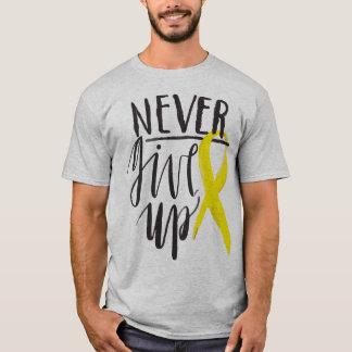 NEVER GIVE UP Men's Basic T-Shirt