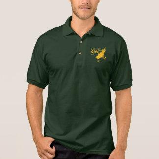 Never Give Up Men's Gildan Jersey Polo Shirt