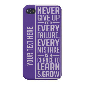 Never Give Up motivational cases Cases For iPhone 4