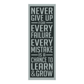 NEVER GIVE UP motivational poster