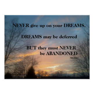 NEVER GIVE UP ON YOUR DREAMS MIKE PENCE POSTER