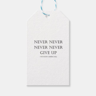 Never give up pack of gift tags