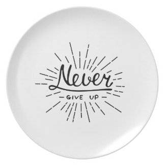 Never Give Up Party Plates