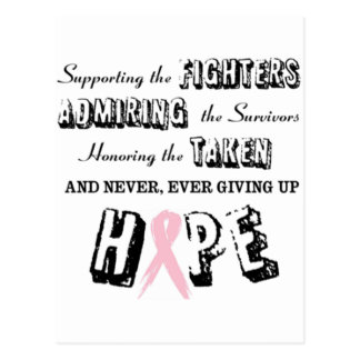 Never Give Up - Pink Postcard