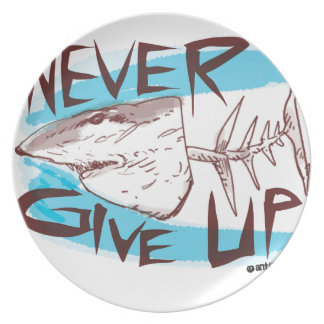 never give up plates
