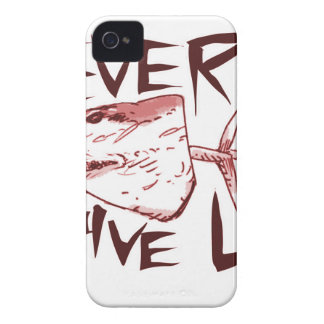 never give up_red iPhone 4 Case-Mate cases