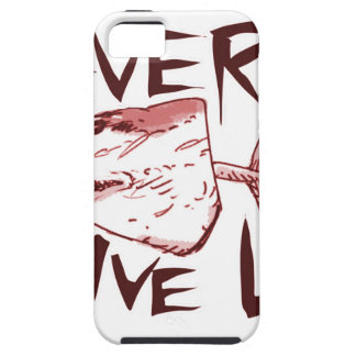 never give up_red iPhone 5 cover