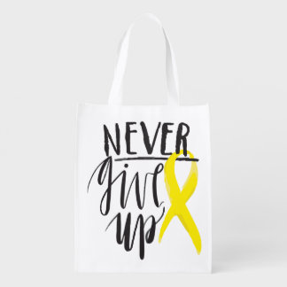 NEVER GIVE UP Reusable Bag