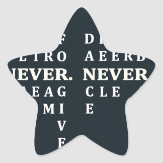 Never Give Up Star Sticker